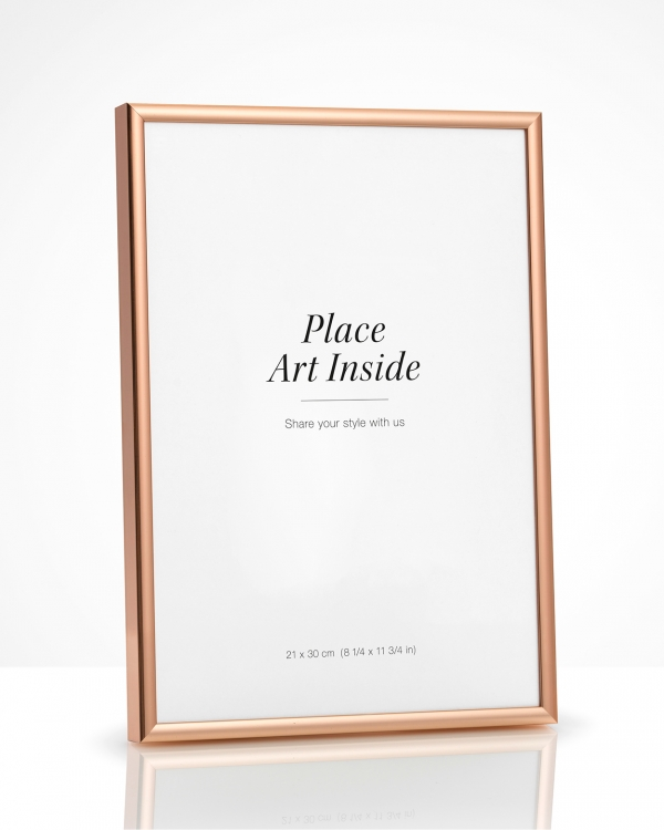 - Copper metal frame for posters in 21x30