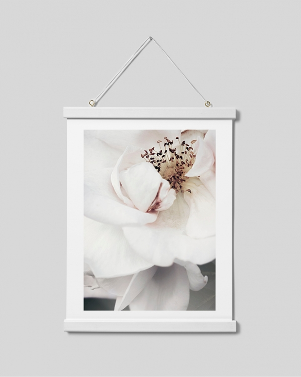 - White poster hanger with magnet fastening, 31 cm