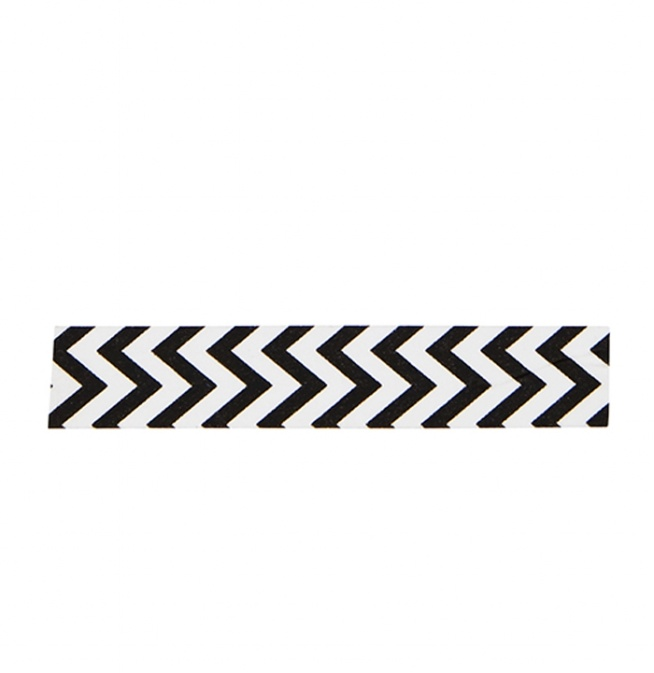 Washi Tape Blackwhite Zigzag