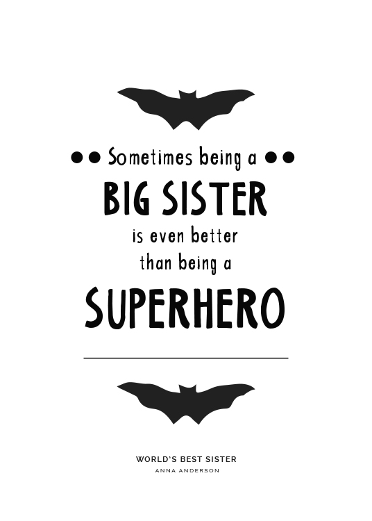 Big Sister Personal Poster / Personalized wall art at Desenio AB (pp0004)