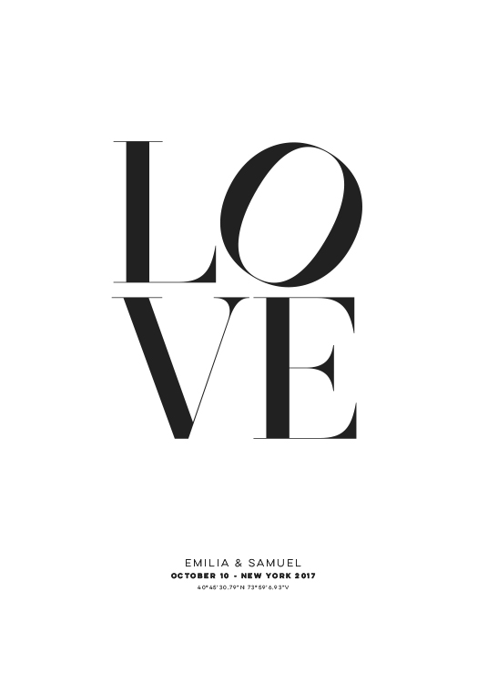 Love Personal Poster / Personalized wall art at Desenio AB (pp0010)