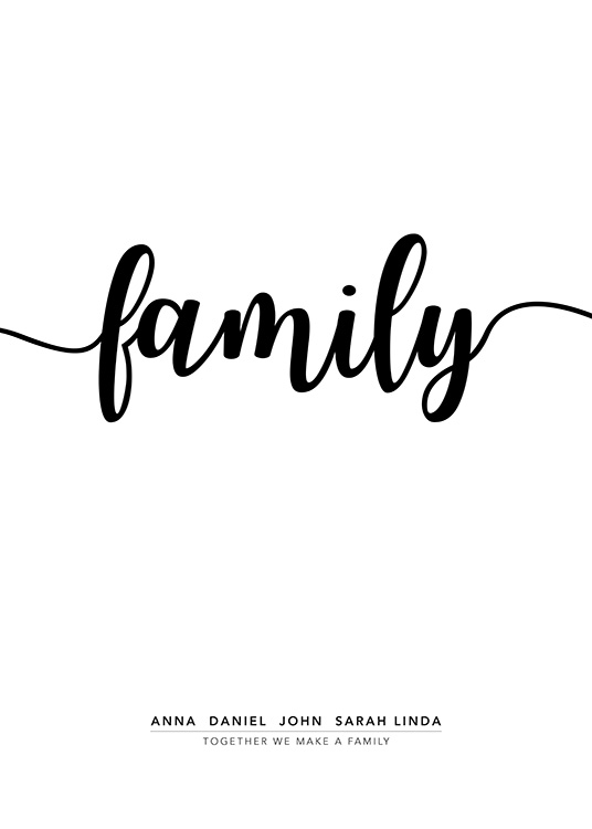Family Personal Poster / Personalized wall art at Desenio AB (pp0020)