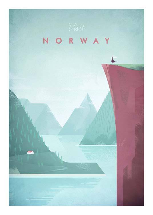 Norway Travel Poster / Vintage at Desenio AB (pre0012)