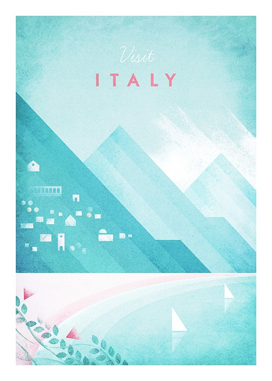Visit Italy Poster / Vintage at Desenio AB (pre0042)