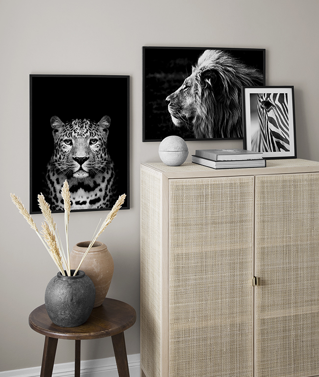 Decorate with animals and nature