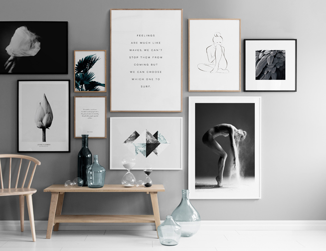 5 creative ways to display your posters. Black Bedroom Furniture Sets. Home Design Ideas