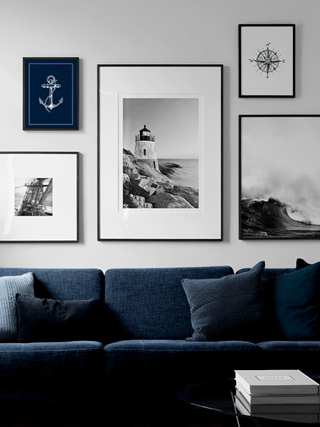 Nautical posters from Desenio.